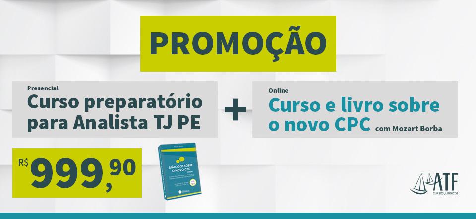 Promo TJ PE + Livro + curso novo CPC Outubro