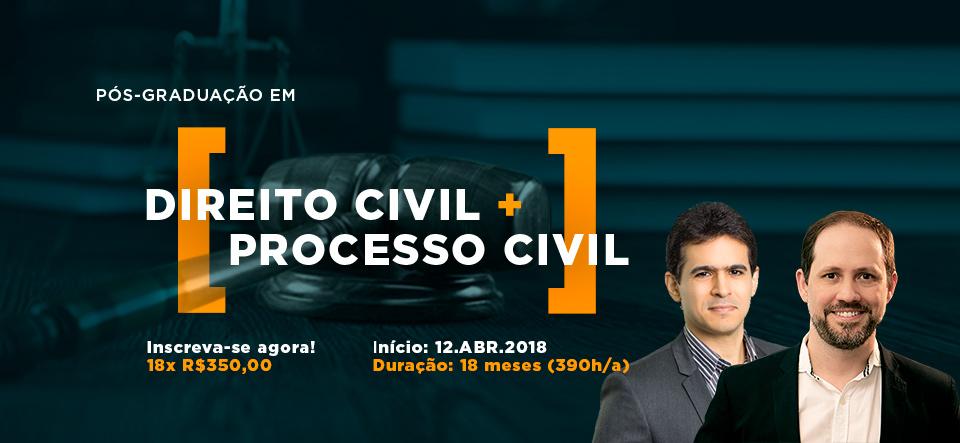 Pós graduação em direito civil e processo civil