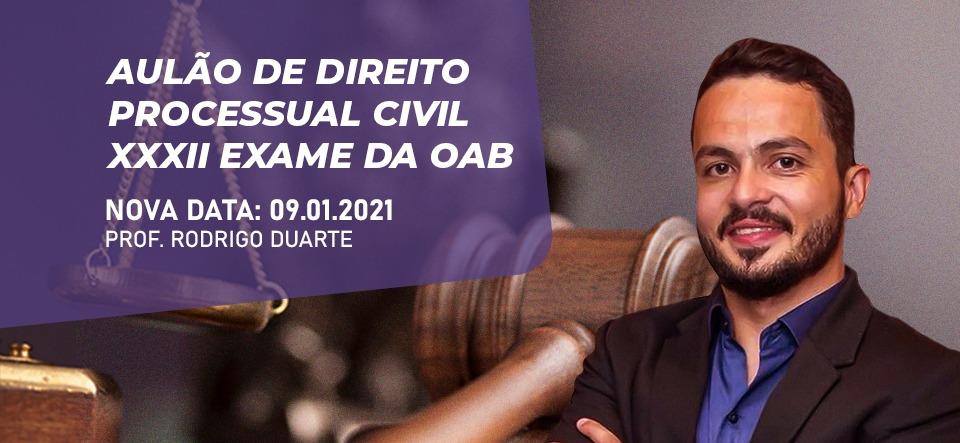 AULÃO DE DIREITO PROCESSUAL CIVIL - XXXII EXAME DA OAB