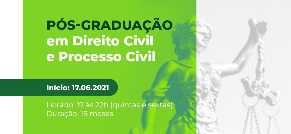 pós graduação direito civil e processo civil